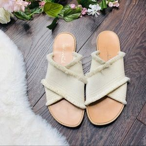 Splendid Criss Cross Fringe Boho Sandals